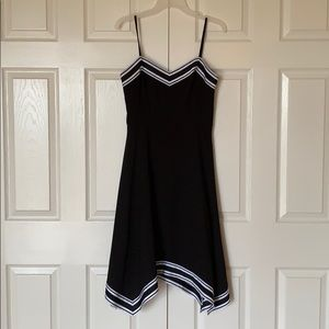 Ted Baker Black Dress with white stripes
